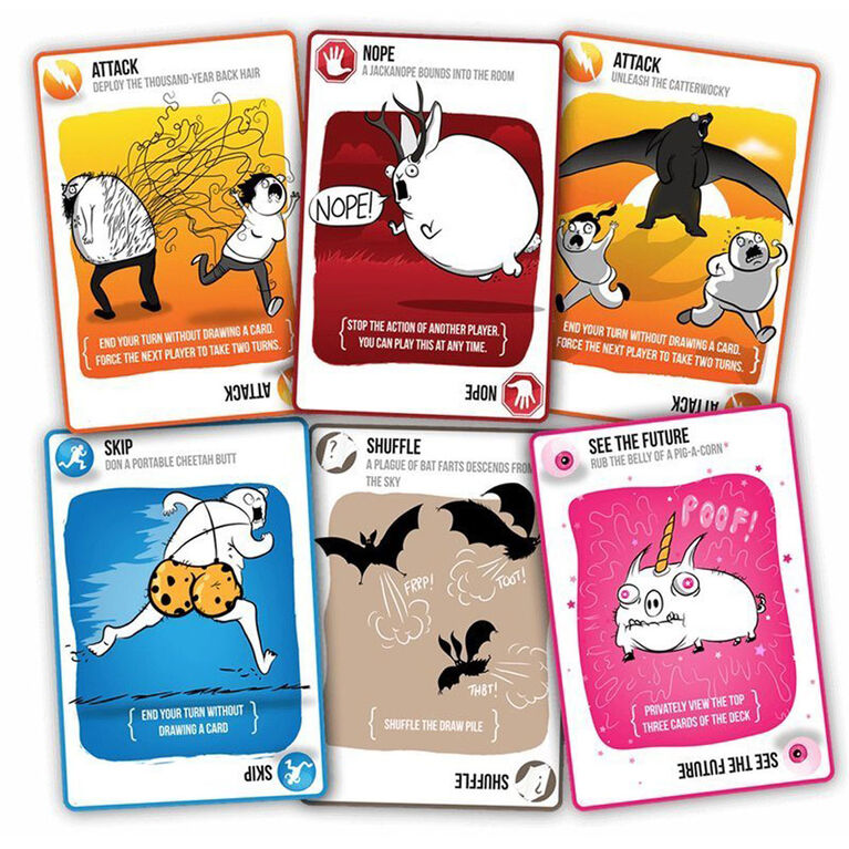 Exploding Kittens Original Edition Board Game - English Edition