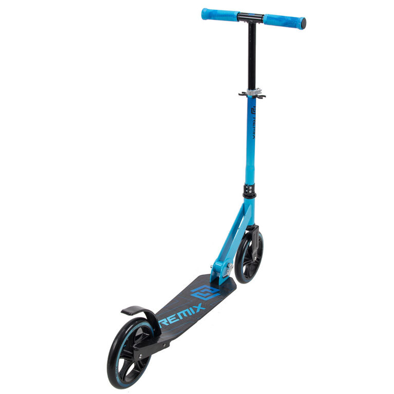 Huffy Remix Folding 200mm Scooter, Blue and Black