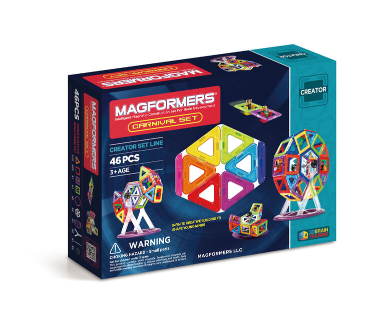 Magformers Carnival 46 Piece Set - styles may vary