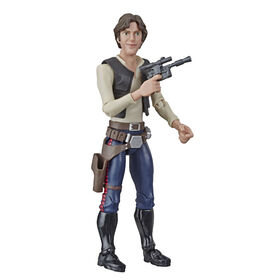 Star Wars Galaxy of Adventures Han Solo with Fun Blaster Feature