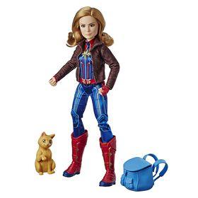 Captain Marvel - Captain Marvel Super Hero Doll & Marvel's Goose the Cat