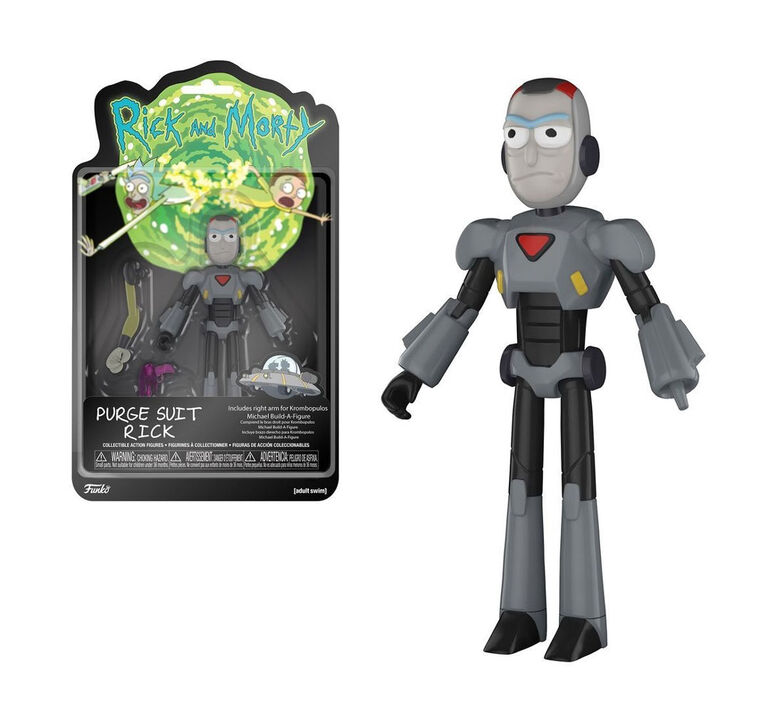 Funko Action Figure! TV: Rick and Morty - Purge Suit Rick