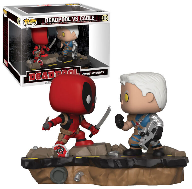 Figurine en vinyle Deadpool vs Cable de Deadpool par Funko Movie Moment!.