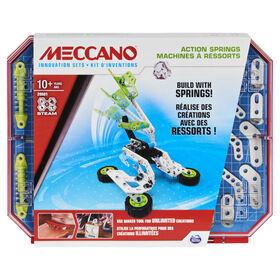Meccano, Kit de construction STEAM, Kit d'innovations Machines à ressorts