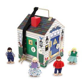 Melissa & Doug - Maison en bois avec sonnette