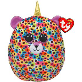 Ty Squish Giselle Multicolor Unileopard 14 inch