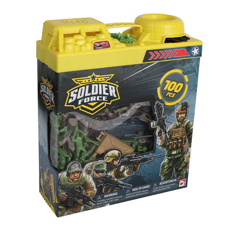 Soldier Force Bucket Soldiers 100 Pieces - R Exclusive