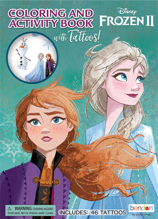 Frozen II Colouring & Activity Book with Tattoos