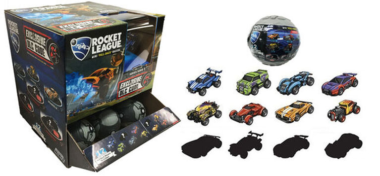 Sac à surprise Rocket League Mini Pull Back Racers.