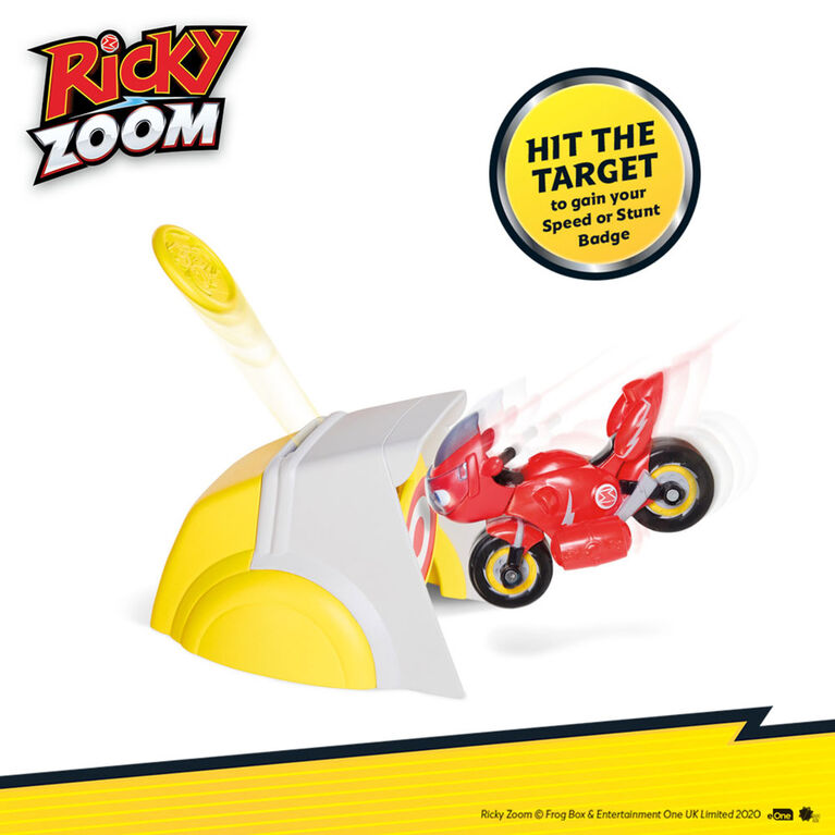 Ricky Zoom Speed & Stunt Playset featuring Ricky with 2 Rescue Accessories - Free Standing Toy Bike and Stunt Playset for Preschool Play - R Exclusive