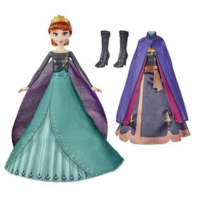 Disney's Frozen 2 Anna's Queen Transformation Fashion Doll With 2 Outfits and 2 Hair Styles