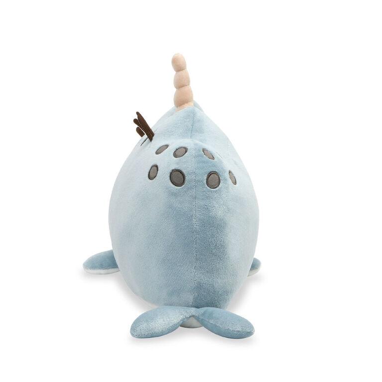 GUND, Peluche Pusheen Animaux Narval, bleue, 33cm