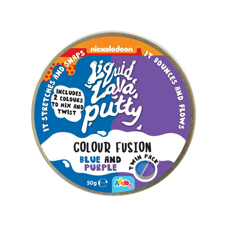 Nickelodeon Liquid Lava Putty Colour Fusion Blue and Purple - R Exclusif