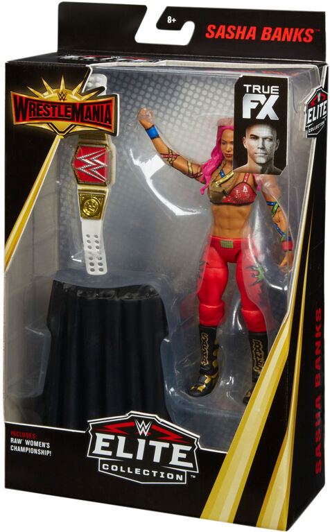 WWE - WrestleMania - Collection Elite - Figurine articulee - Sasha Banks