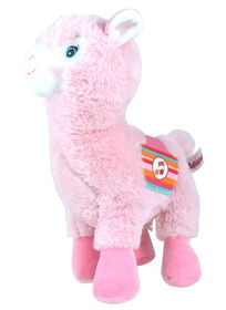 Lamadoo Plush with Sound - 30 cm - Pink