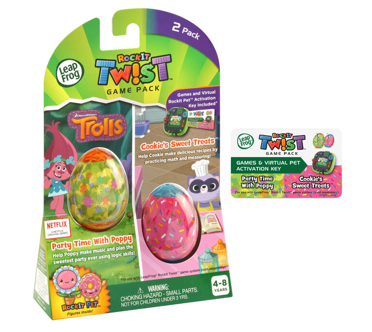 LeapFrog RockIt Twist 2 Pack: Trolls Party Time With Poppy and Cookie's Sweet Treats - English Edition