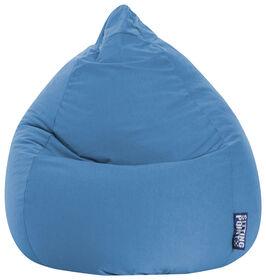Gouchee Design - Beanbag Easy Fauteuil Poire Microfibre XL - Bleu