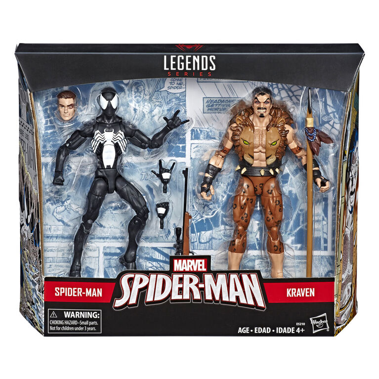 Spider-Man Legends Series: Symbiote Spider-Man & Kraven The Hunter Figure 2-Pack - R Exclusive
