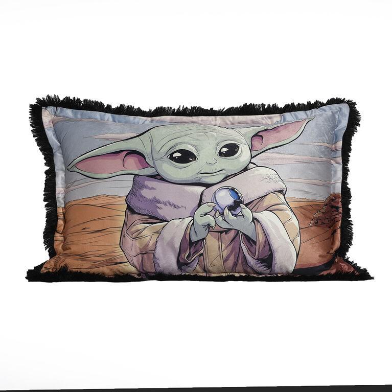 Star Wars The Mandalorian The Child Baby Yoda Jumbo Funky Fur Pillow