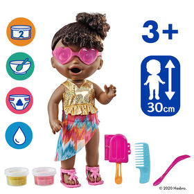 "Baby Alive Sunshine Snacks Doll, Eats and ""Poops,"" Summer-Themed Waterplay Baby Doll"
