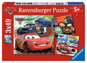 Ravensburger - Disney Pixar - Worldwide Racing Fun Puzzle 3 x 49pc