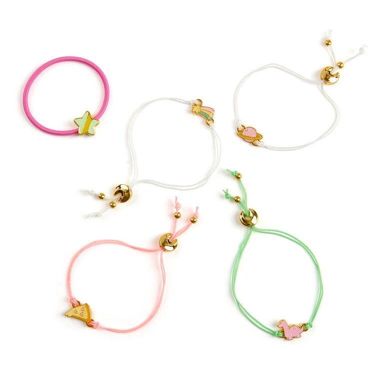 Lucky Fortune Série magique - Bracelet élastique et accessoires de couleurs changeantes - Ensemble Lucky