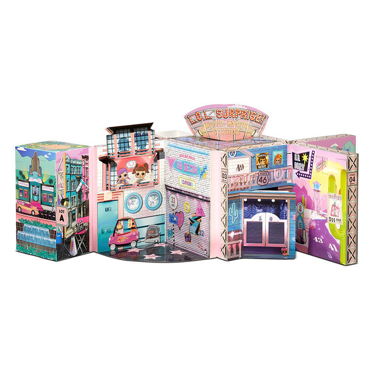 LOL Surprise OMG Movie Magic Studios with 70+ Surprises, 12 Dolls including 2 Fashion Dolls, 4 Movie Studio Stages, Green Screen, Movie Theater/Set Packaging, And Movie Accessories