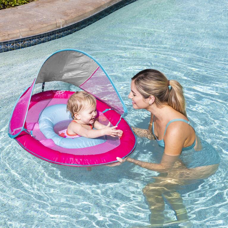 SwimWays, Bouée et pare-soleil Baby Spring Float - Licorne sirène rose