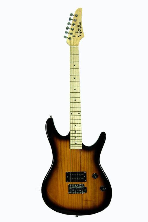 Guitare électrique Viper de Bridgecraft en érable pleine grandeur avec accessoires