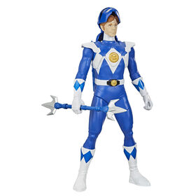 Power Rangers Mighty Morphin - Blue Ranger Morphin Hero 12-inch Action Figure Toy with Accessory