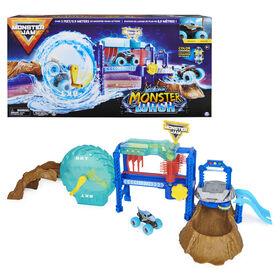 Monster Jam, Megalodon Monster Wash, Includes Color-Changing Megalodon Monster Truck