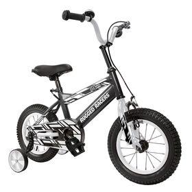 Rugged Racer 16 Inch Kids Bike with Training Wheels- Black - English Edition