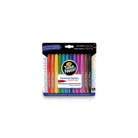 Crayola Take Note! Permanent Markers, 12 Count