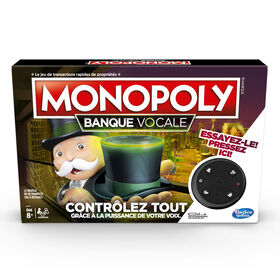 Monopoly Voice Banking Electronic Family Board Game - French Edition