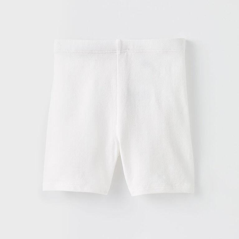 3-6m short extensible - blanc