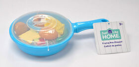 Just Like Home - Frying Pan Playset - Blue - lunch