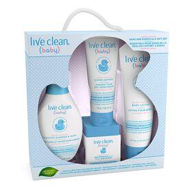 Live Clean Baby - Essentiels pour soins de la peau hydratant en coffret cadeau.