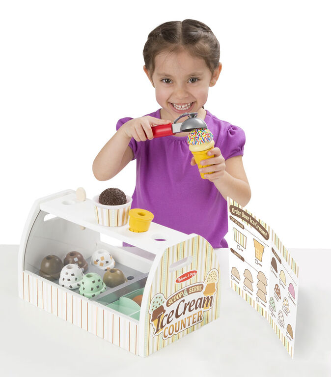 Melissa & Doug - Comptoir de crème glacée en bois