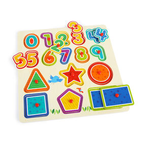 Imaginarium Discovery - Wooden Numbers & Shapes Puzzle