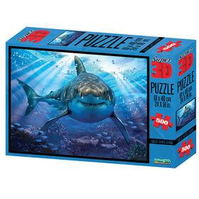 Howard Robinson - Great White Shark 500 pc Casse-tête Super 3D.