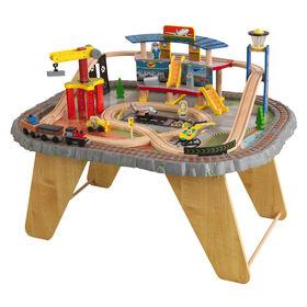 KidKraft - Ensemble Train et Table en bois Transportation Station