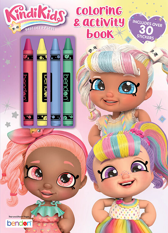 Kindi Kids Coloring With Crayons - English Edition