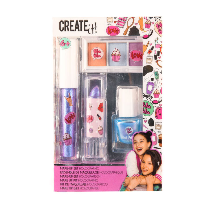 CREATE IT! Make-Up Set Holographic Display