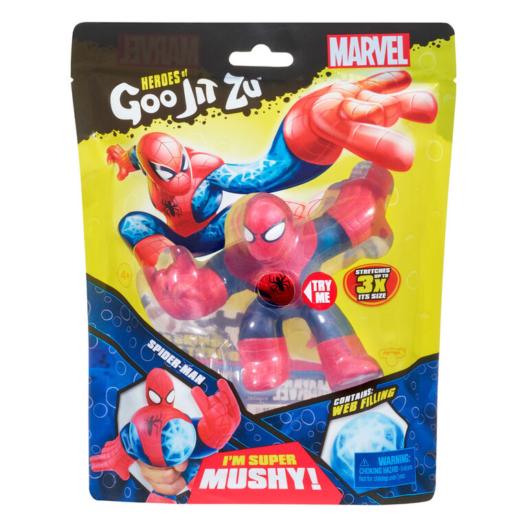 Ensemble Héros de Goo Jit Zu - Héros Marvel S1 - Spiderman