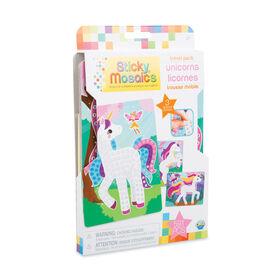 Sticky Mosaics Trousse Mobile Licornes - Notre exclusivité