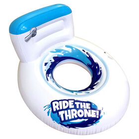 Ride the Throne Swim Ring.