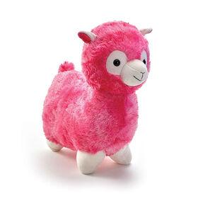 "Snuggle Buddies Adorable Alpaca 17"" Plush Pink"