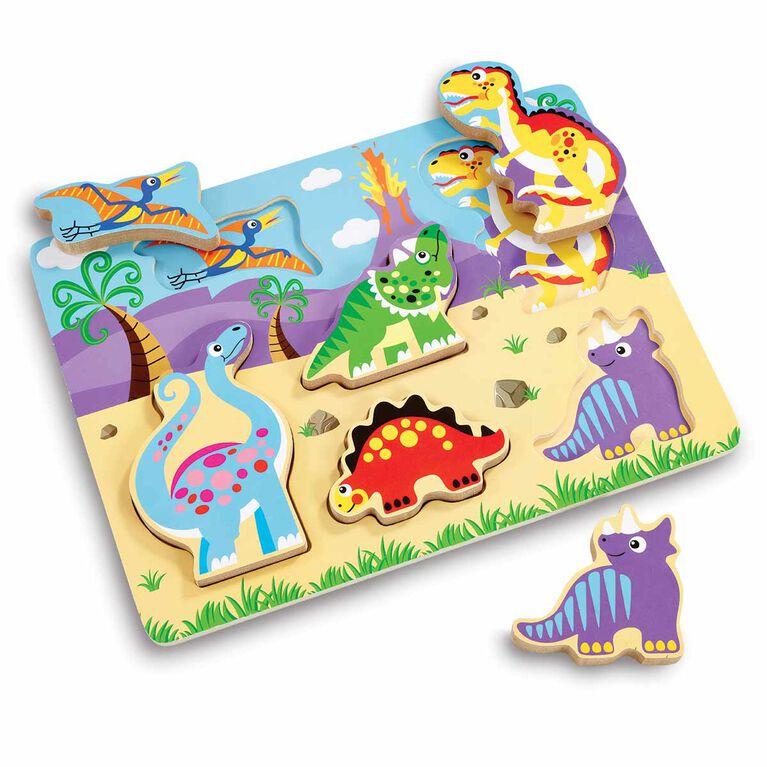 Woodlets - Casse-tête en gros morceaux - Dino - Notre exclusivité