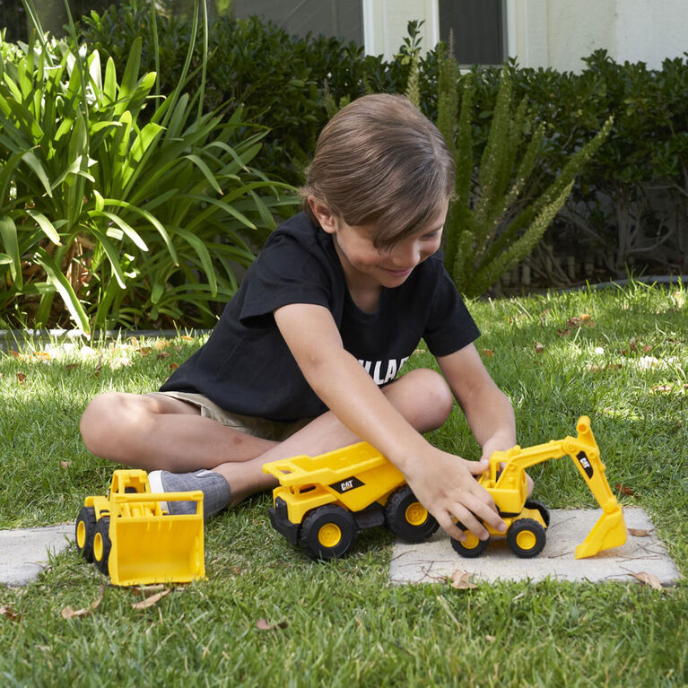 Cat Mini Crew 3 Pack - Dump Truck, Wheel Loader, & Excavator