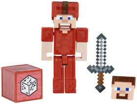 Minecraft Earth Steve in Red Leather Figure - English Edition